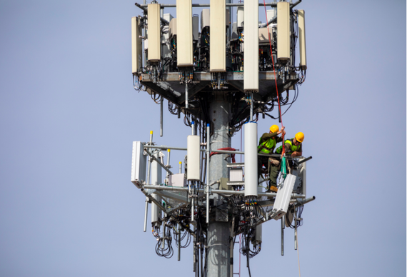 Antennas on a Sprint cell tower.